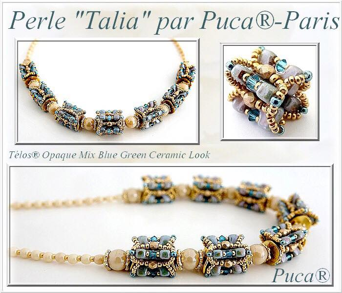 Beaded element Talia by Puca® with Télos® beads