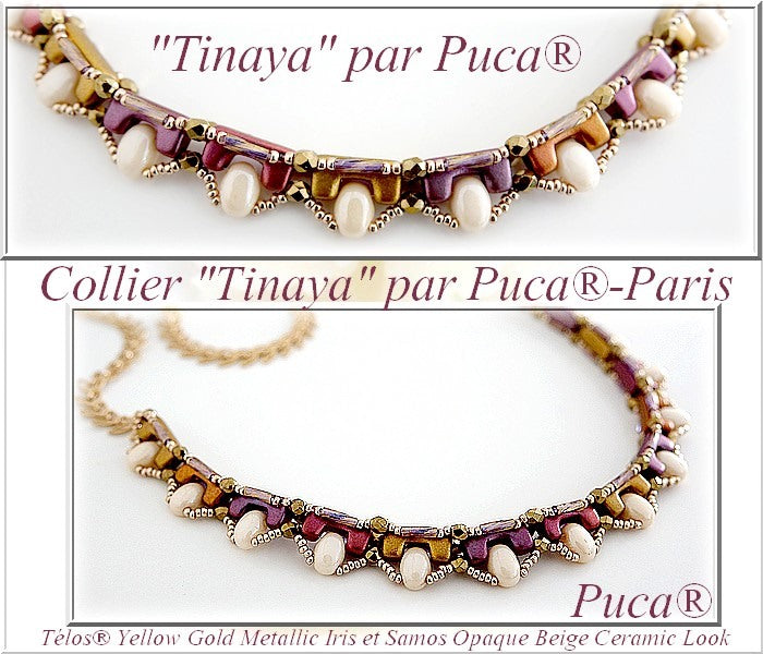 Necklace Tinaya: Free Tutorial by par Puca® with Telos® and Samos® beads
