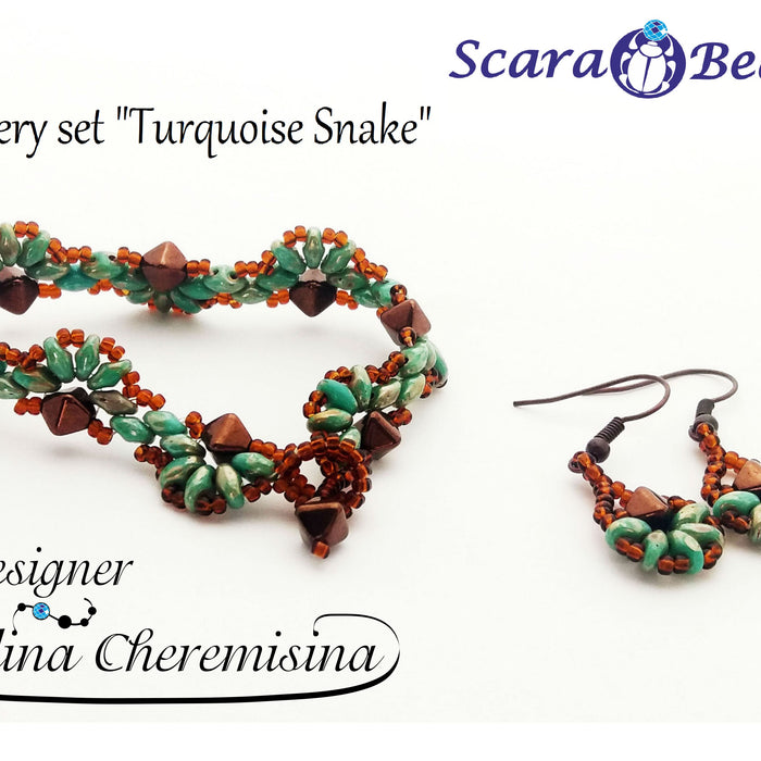 DIY: Snake Bracelet made of SuperDuo Beads