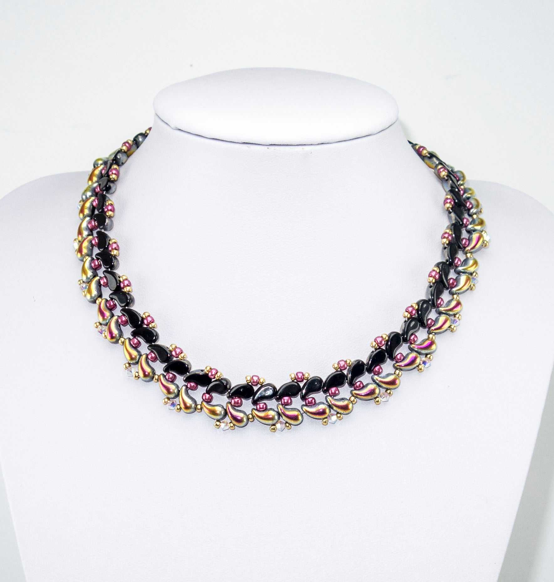 Free Tutorial: Necklace made of ZoliDuo