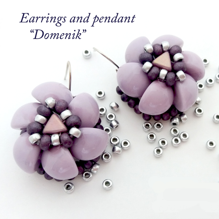 DIY: Flower Domenik with Dome Beads