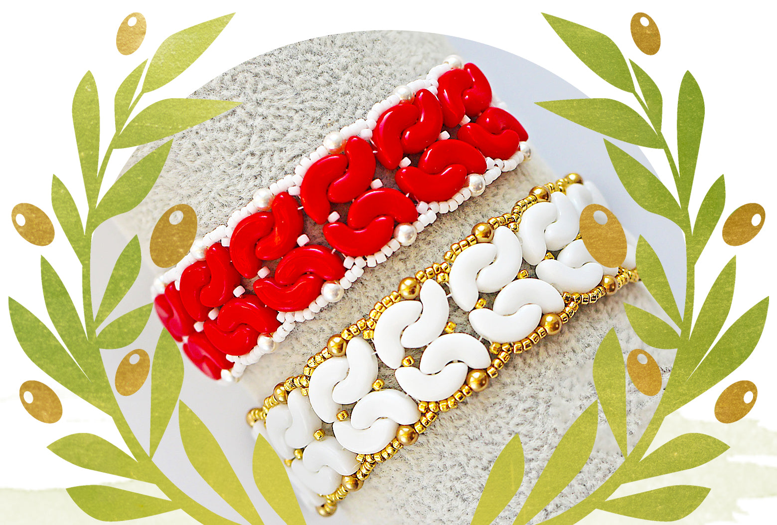 Free Bracelet Tutorial with Arcos par Puca Beads - Amfora