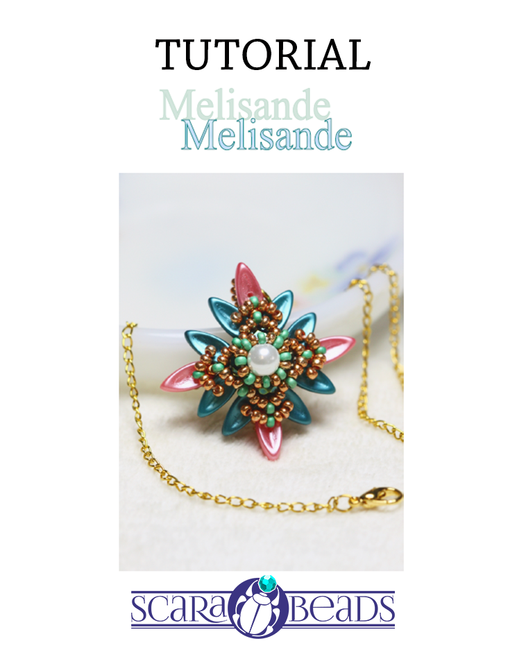 "Free Tutorial: Pendant ""Melisande"" by ScaraBeads"