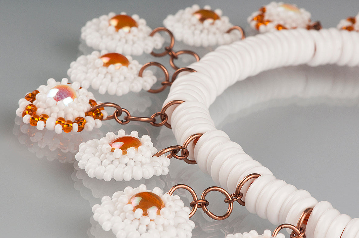 "Free Tutorial: Necklace ""Milk and Cinnamon"""