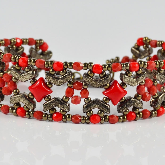 Nuria Bracelet - Beading Tutorial with Arrow beads
