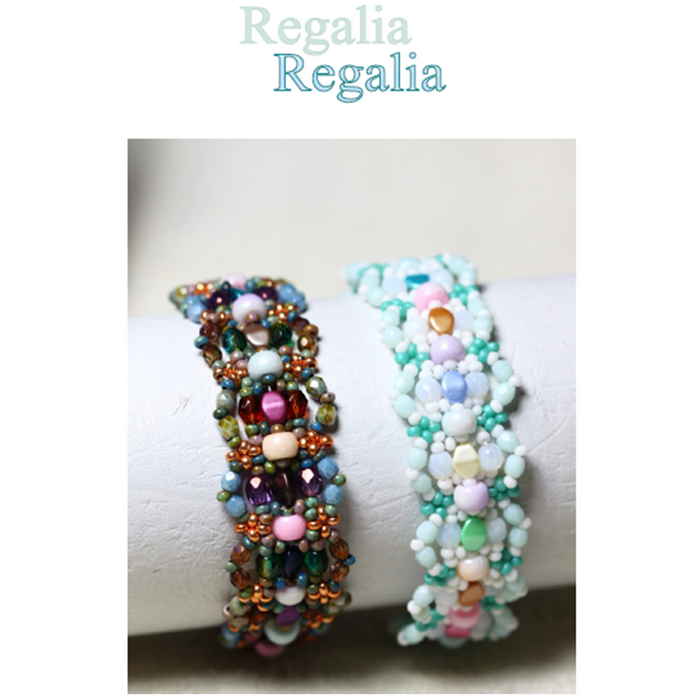 "Free Tutorial: Bracelet ""Regalia"" by ScaraBeads"