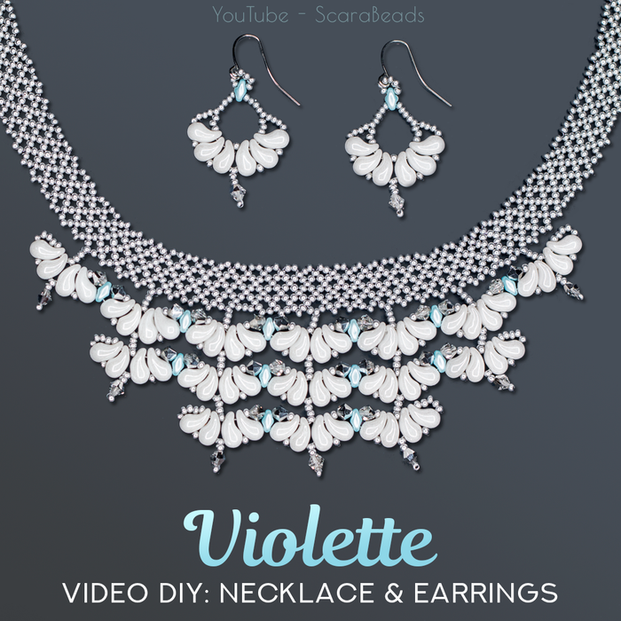 DIY: Necklace Violette with ZoliDuo and SuperDuo Beads