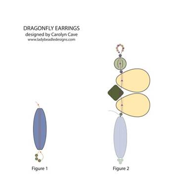 Dragonfly Earrings Free Tutorial with Anemone Petal Beads