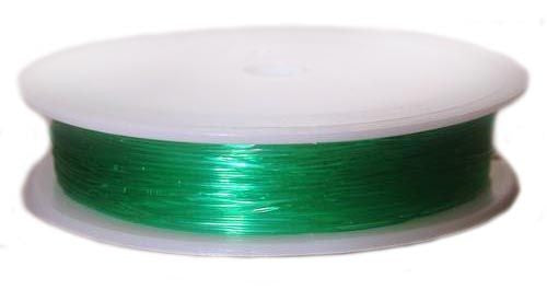 1 pc Elastic Rubber Cord, 0.6mm (0.02inch) x 18m (19.7yd), Green
