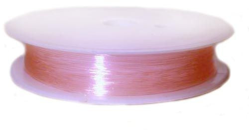 1 pc Elastic Rubber Cord, 0.6mm (0.02inch) x 18m (19.7yd), Light Pink
