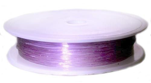 1 pc Elastic Rubber Cord, 0.6mm (0.02inch) x 18m (19.7yd), Purple