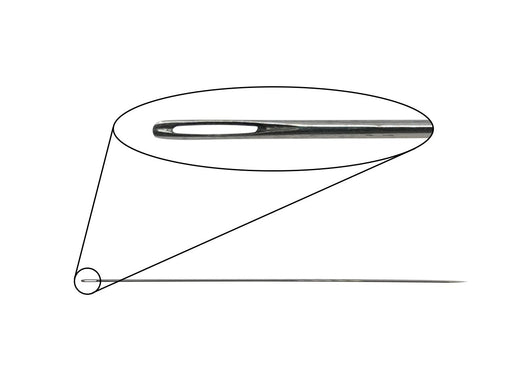 Pearlstringing Needle 0.75x100 mm, Metal