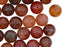 Natural Stones Round Beads 10 mm, Chalcedony Agate Brown Pink, Minerals, Russia