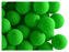 24 pcs Round NEON ESTRELA Beads, 10mm, Green, Czech Glass