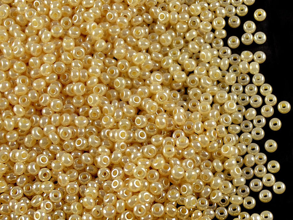 20 g 10/0 Seed Beads Preciosa Ornela, Dark Beige Opaque, Czech Glass