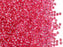 20 g 10/0 Seed Beads Preciosa Ornela, Pink Transparent Silver Lined, Czech Glass
