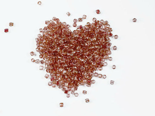10 g 10/0 3-Cut Seed Beads Preciosa Ornela, Crystal Red, Czech Glass
