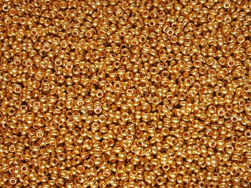 20 g 10/0 Seed Beads Preciosa Ornela, Orange Metallic, Czech Glass