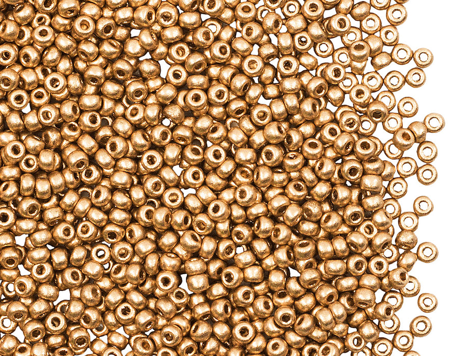 20 g 10/0 Seed Beads Preciosa Ornela, Czech Glass, Aztec Gold