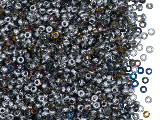 Rocailles Seed Beads 10/0, Crystal Orion, Czech Glass