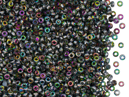 Rocailles Seed Beads 10/0, Crystal Vitrail, Czech Glass