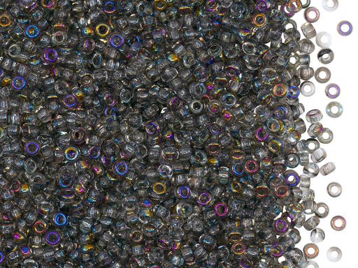 Rocailles Seed Beads 10/0, Crystal Kalipo, Czech Glass