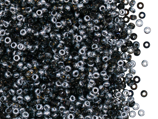 Rocailles Seed Beads 10/0, Crystal Heliotrope, Czech Glass