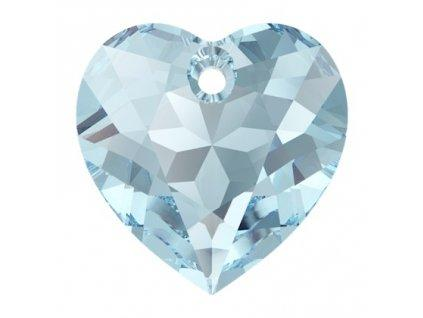 Heart Cut 6432 10.5 mm, Aquamarine, Swarovski, Austria