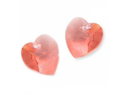 Xilion Heart 6228 10.3x10 mm, Rose Peach, Swarovski, Austria
