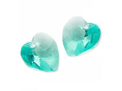 Xilion Heart 6228 10.3x10 mm, Light Turquoise, Swarovski, Austria