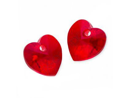 Xilion Heart 6228 10.3x10 mm, Light Siam, Swarovski, Austria