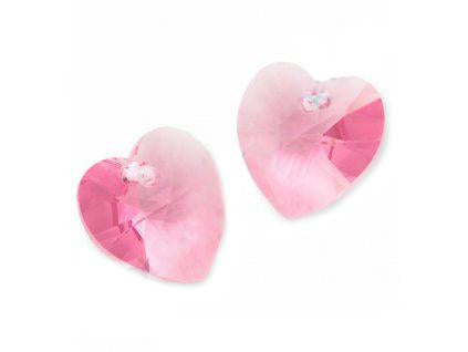 Xilion Heart 6228 10.3x10 mm, Light Rose, Swarovski, Austria