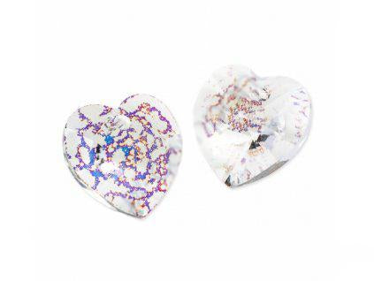 Xilion Heart 6228 10.3x10 mm, Crystal White Patina, Swarovski, Austria