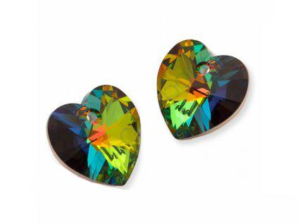 Xilion Heart 6228 10.3x10 mm, Crystal Vitrail Medium, Swarovski, Austria