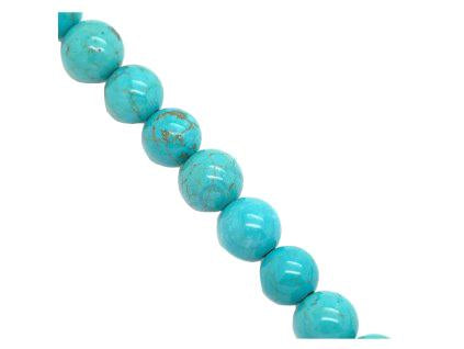 Magnesite dyed turquoise 10 mm, Minerals, Czech Republic