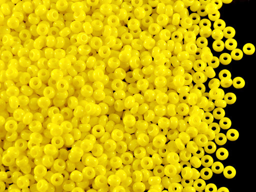 20 g 10/0 Seed Beads Preciosa Ornela, Yellow Opaque, Czech Glass