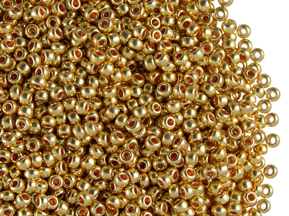 20 g 10/0 Seed Beads Preciosa Ornela, Crystal Terra Metallic, Czech Glass