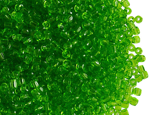 20 g 10/0 3-Cut Seed Beads Preciosa Ornela, Light Green Transparent, Czech Glass