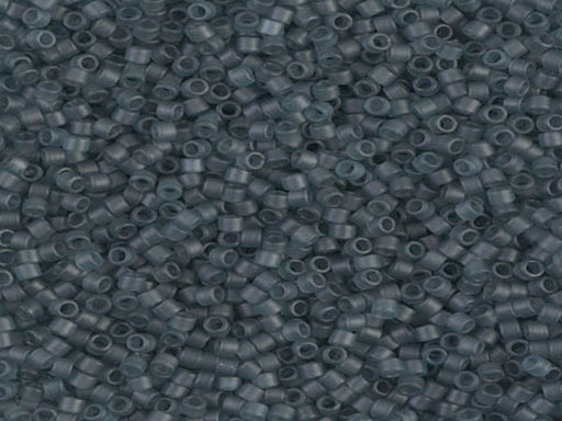 Delica Beads 11/0 Transparent Mantana Matted Luster Japanese Beads Grey Blue