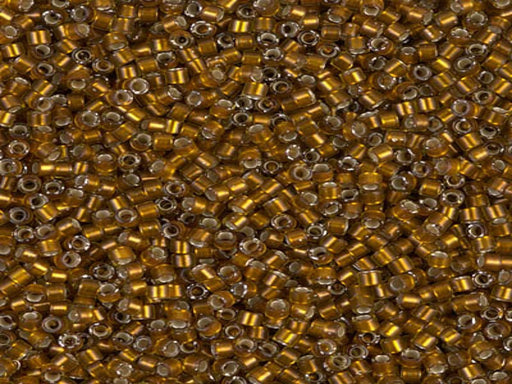 Delica Beads 11/0 Dark Saffron Silver Lined Glaze Japanese Beads Brown