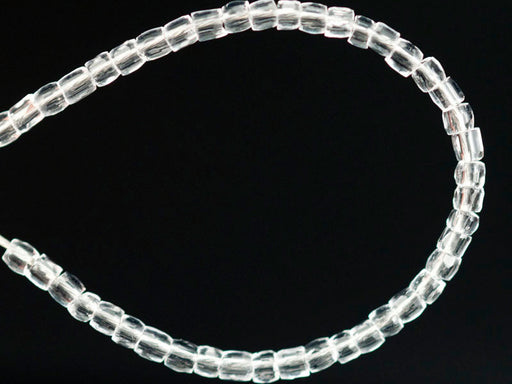 10 g 11/0 3-Cut Seed Beads Preciosa Ornela, Crystal Clear, Czech Glass