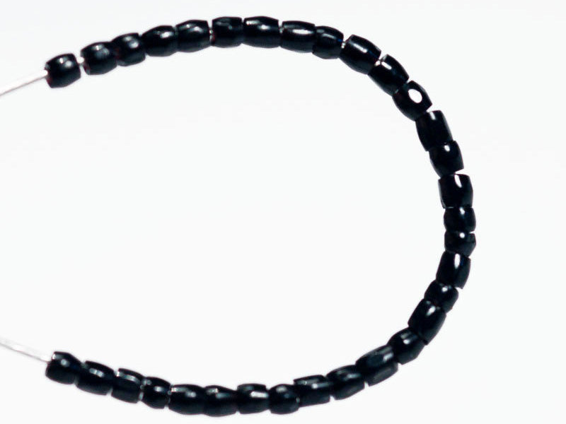 20 g 11/0 3-Cut Seed Beads Preciosa Ornela, Jet Black, Czech Glass