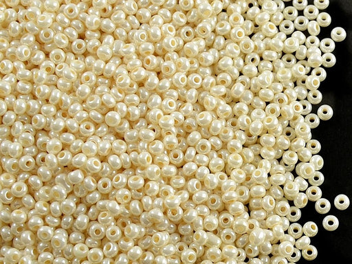 20 g 11/0 Seed Beads Preciosa Ornela, Shell Cream Opaque Pearl, Czech Glass
