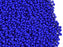 20 g 11/0 Seed Beads Preciosa Ornela, Opaque Dark Blue, Czech Glass