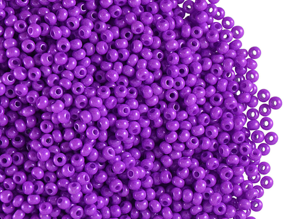 20 g 11/0 Seed Beads Preciosa Ornela, Opaque Dyed Lilas , Czech Glass