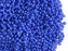 10 g 11/0 1-Cut Seed Beads Charlotte Preciosa Ornela, Opaque Medium Blue, Czech Glass