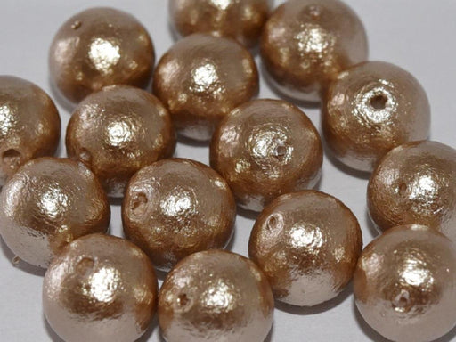 Cotton Pearls 12 mm, Beige, Miyuki Japanese Beads