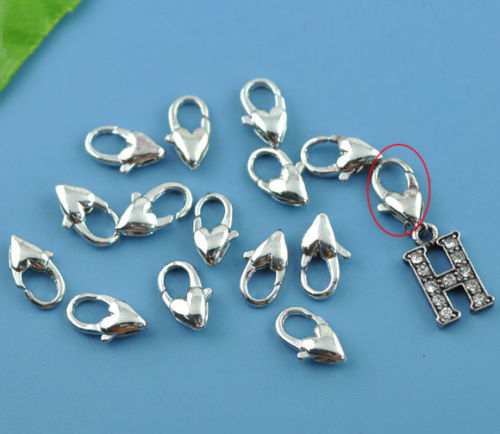 1 pc Fish Lock Heart Shape, 12mm