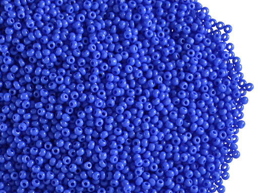 20 g 13/0 1-Cut Seed Beads Charlotte Preciosa Ornela, Opaque Medium Blue, Czech Glass