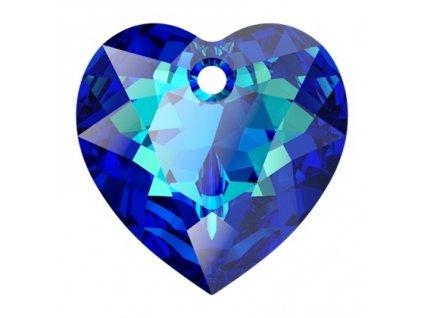Heart Cut 6432 14.5 mm, Crystal Bermuda Blue Foiled, Swarovski, Austria